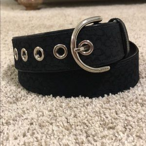 Black Coach Signature Belt